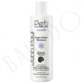 John Paul Pet Super Bright Shampoo Whitening Brightening Formula Cleanse