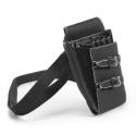 Scissor holster strapped