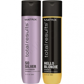 Matrix Total Results Color Obsessed So Silver Shampoo 300ml + Hello Blondie Conditioner 300ml