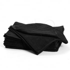 Bleachsafe towel black S 12st