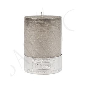Blockljus Silver/Grå 7x10cm