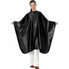 Satin cape. black