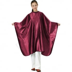 Satin cape. burgundy