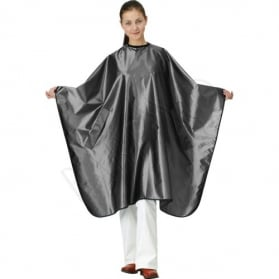 Satin cape. gunmetal