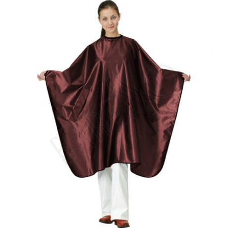 Satin cape. grape