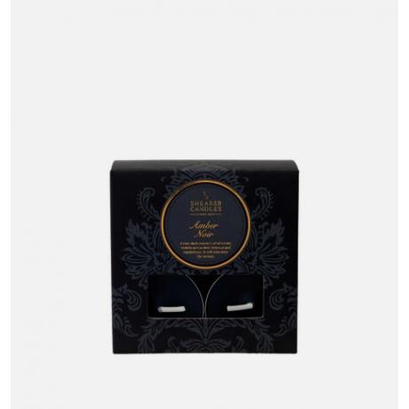 Shearer Candles Tea Lights Amber Noir x 8