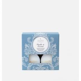 Shearer Candles Tea Lights Vanilla & Coconut x 8