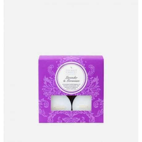 Shearer Candles Tea Lights Lavender & Geranium x 8