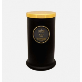 Shearer Candles Tall Pillar Jar With Lid Amber Noir 100h