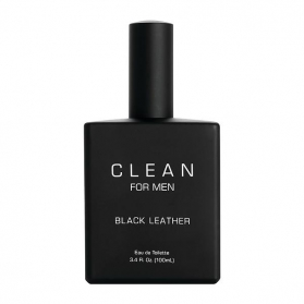 Clean Black Leather For Men edt 100ml