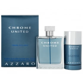 Azzaro Chrome United Giftset Edt 100ml + Deodorant Stick 75ml
