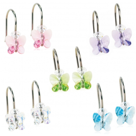 Blomdahl Natural Titanium Hanging Butterflies 8mm