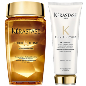 Kerastase Elixir Ultime shampoo 250ml+Kerastase Elixir Ultimate Fondant 200ml