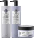 Maria Nila Sheer Silver Shampoo + Conditioner 1000ml & Masque 250ml