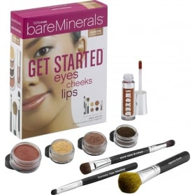 BareMinerals Get Started Eyes Cheeks Lips 8 Piece Collection | Medium to Tan