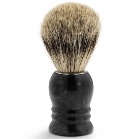 Shaving Brush Marble Black