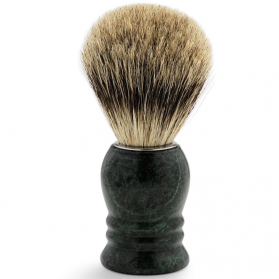 Shaving Brush Marble Green