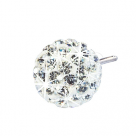 Blomdahl Natural Titanium Crystal Ball White