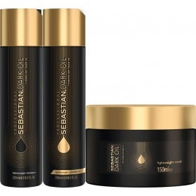 Sebastian Professional Dark Oil Lightweight Hair Trio