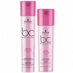 Schwarzkopf BC Bonacure Color Freeze Micellar Sulfate Free Shampoo 250ml & Conditioner 200ml Duo