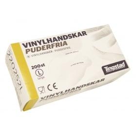 VinylHandskar Puderfria Large 200st