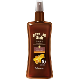 Hawaiian Protective Dry Spray Oil SPF 10 Coconut & Papaya 200ml