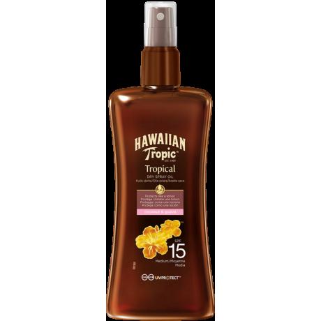Hawaiian Protective Dry Spray Oil SPF 15 Coconut & Guava 200ml