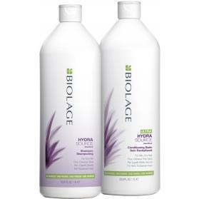 Matrix Biolage Hydrasource Shampoo + Ultra Conditioning Balm 1000ml