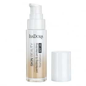 IsaDora Skin Beauty Perfecting & Protecting Foundation SPF 35 02 Linen