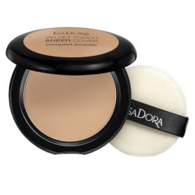 IsaDora Velvet Touch Sheer Cover Compact Powder 47 Warm Tan