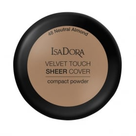 IsaDora Velvet Touch Sheer Cover Compact Powder 48 Neutral Almond