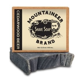 Mountaineer Brand Cedarwood Beer Shave Soap