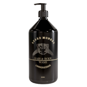 Beard Monkey Hair & Body Shampoo Lemongrass 1000ml