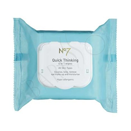 Boots N°7 Quick Thinking 4 in 1 Wipes 30st
