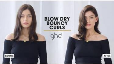 How To Create Blow Dry Bouncy Curls | ghd Hairstyl